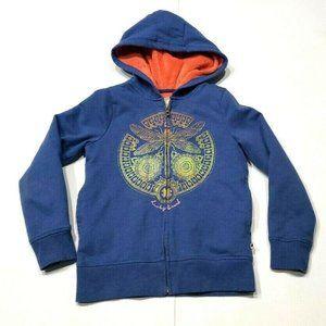 Lucky Brand Girls Size Small 7/8 Fleece Lined Zip-